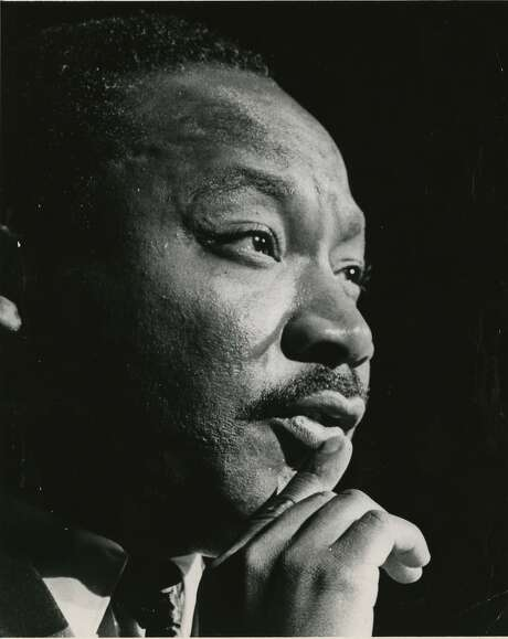 PHOTO FILED: MARTIN LUTHER KING JR. 10/17/1967 -  Martin Luther King Jr. at the Sam Houston Coliseum, Oct 17, 1967 Blair Pittman / Houston Chronicle Photo: Blair Pittman, Houston Chronicle