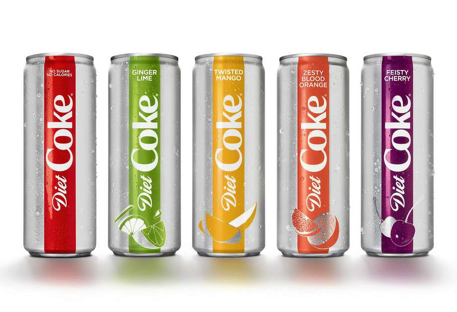 This photo provided by the Coca-Cola Co. shows examples of Diet Coke's rebranding effort. Photo: WONNACOTT.COM, Associated Press