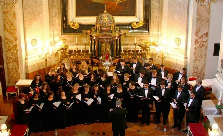 The University of Notre Dame concert choir. Photo: Contributed Photo