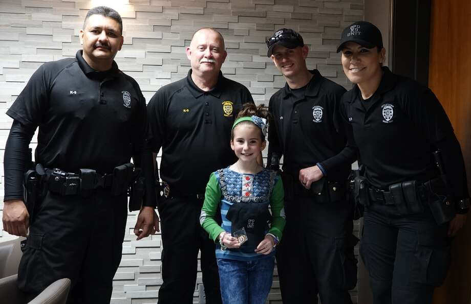 Pictured From Left to Right: Corporal Joe Galindo, Lieutenant Wayne Phillips, Randi Spenser, Corporal Tyler Rodgers & Corporal Gabby Aguayo Photo: Odessa Police Department