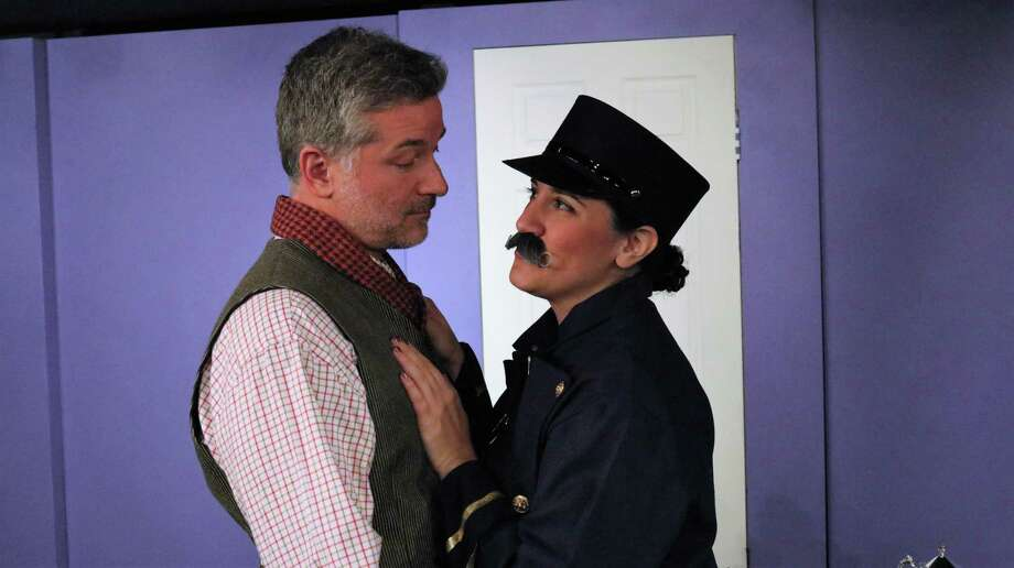 "Rich Masotti and Jean Marie McCormick appear in a scene from Curtain Call, Inc.'s production of ""Is He Dead?"" at The Dressing Room Theater in Stamford, Jan. 11-28. Photo: Lou Ursone / Contributed Photo"