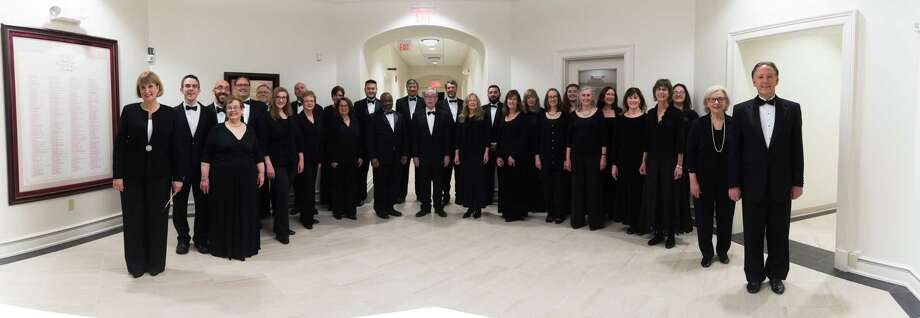 "The Connecticut Chamber Choir opens its 40th anniversary season with ""Sacred Salzburg"" on Jan. 14 at St. Theresa Church in Trumbull, under the direction of Constance Chase, far left. Photo: Connecticut Chamber Choir / Contributed Photo / Maria Damianou"