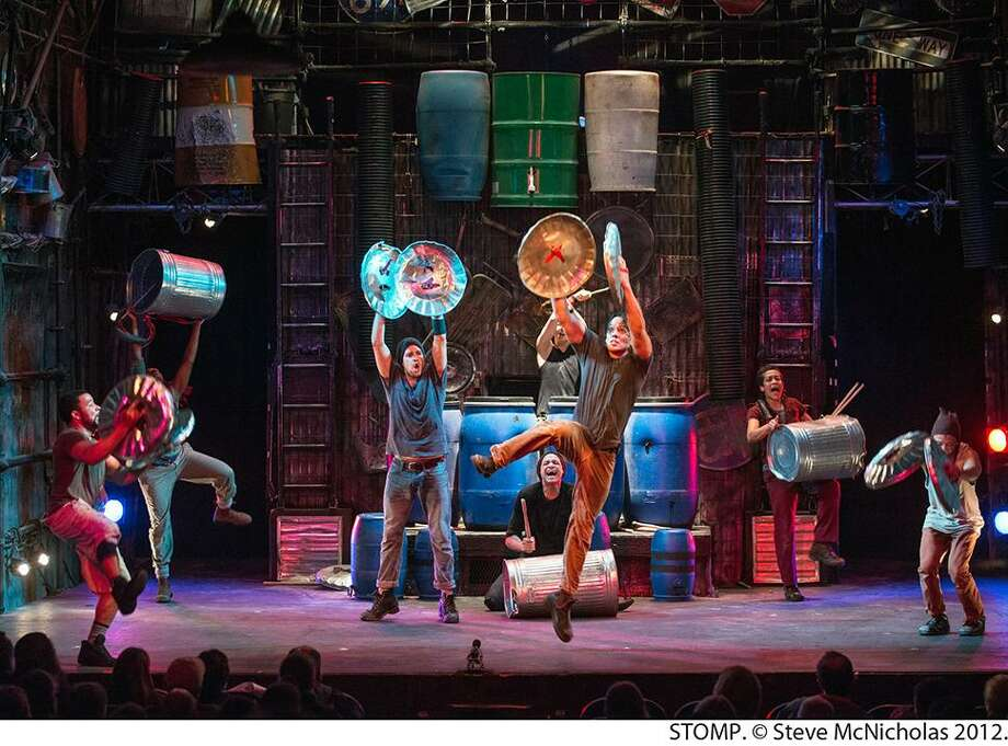 """Stomp's"" cast members create a high-energy show of percussion. Photo: The Bushnell / Steve McNicholas"