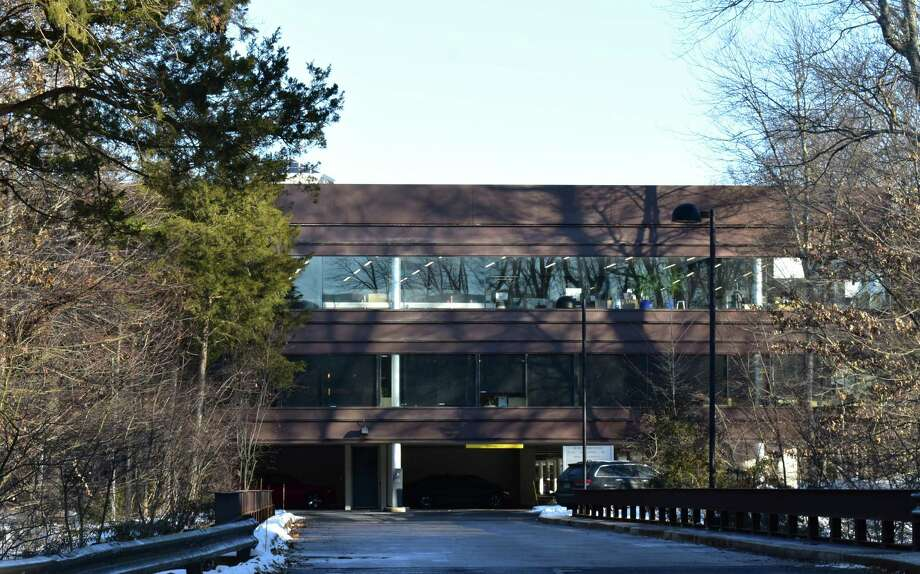 The Wilton Woods Corporate Campus office building at 10 Westport Road in Wilton, Conn., with tenants including Tauck and Epsilon as of January 2018. Photo: Hearst Connecticut Media / Stamford Advocate