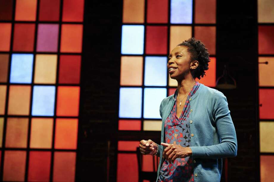 "Sharon Washington performs her one-woman show, ""Feeding the Dragon,"" at Hartford Stage, Jan. 11 through Feb. 4. Photo: Kristi Jan Hoover / Contributed Photo / ©Kristi Jan Hoover"