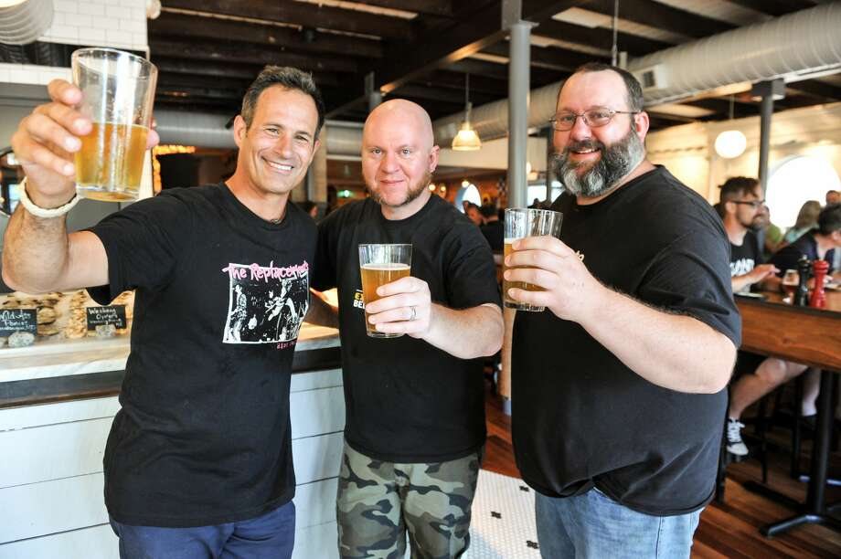 Dogfish Head Brewery's Sam Calagione and BeerAdvocate co-founders Jason and Todd Alstrom team up annually for Extreme Beer Fest, a festival celebrating experimental beers. In late 2017, they also released a companion homebrewer's cookbook, featuring recipes submitted by The Rare Barrel, the Lost Abbey and others. (Pictured l-r: Calagione, Todd Alstrom, Jason Alstrom.) Photo: Courtesy Dogfish Head Brewery