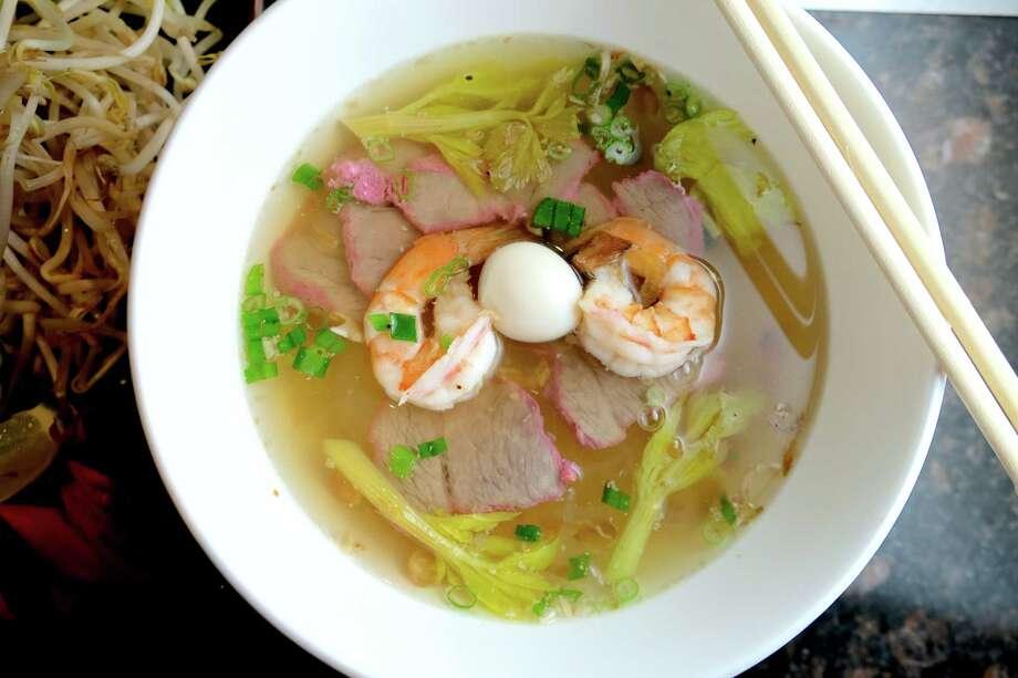 Hu Tieu at Crawfish and Noodles Photo: Mai Pham