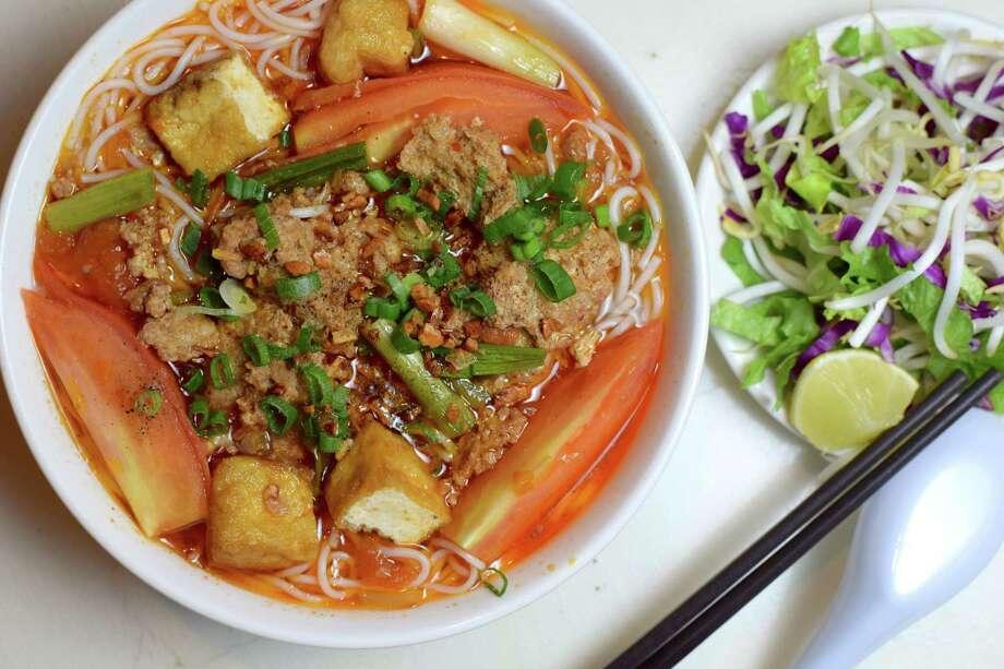 Bun Rieu at Cafe TH Photo: Mai Pham