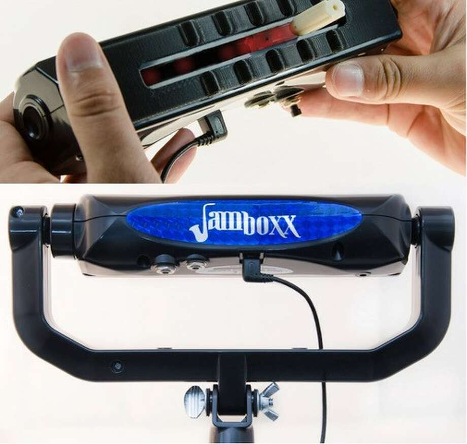 The Albany-based makers of Jamboxx, an electronic, breath-controlled musical device, are hoping to expand its use into the medical field for respiratory therapy. Photo: Provided Photo