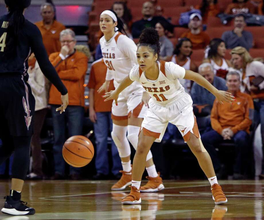 Clear Springs graduate Brooke McCarty is the reigning Big 12 Player of the Year after leading Texas to the Sweet 16 last year for the second straight season. Photo: Michael Thomas, FRE / FR65778 AP