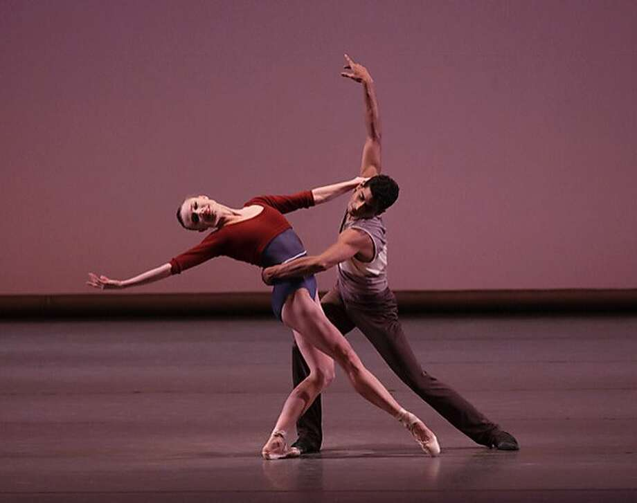 """Sara Mearns and Amar Ramasar in New York City Ballet's production of Justin Peck's """"Rodeo."""" Photo: Paul Kolnik"""