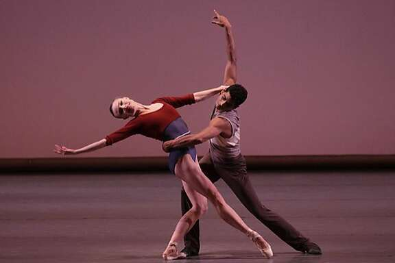 Sara Mearns and Amar Ramasar of New York City Ballet in Justin Peck�s Rodeo: Four Dance Episodes.    Photo: Paul Kolnik