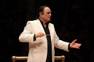 Charles Dutoit conducting the National Youth Orchestra of the United States of America at Carnegie Hall in 2015.