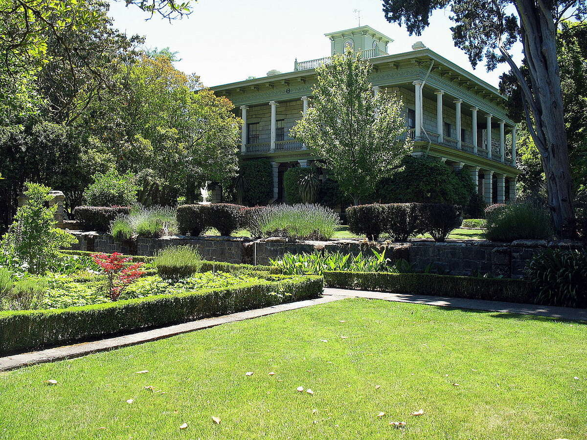 Sonoma County's Temelec Hall, built in 1858 by Granville Swift. He owned 1,000 acres around the house and it's speculated some of his gold was buried on the property.
