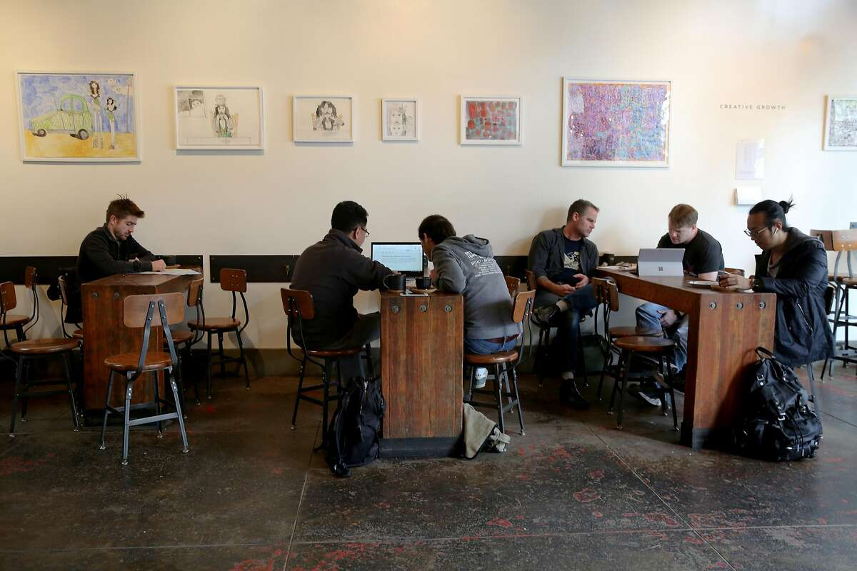 Four Barrel Coffee, Wednesday, Jan. 10, 2018, in San Francisco, Calif.