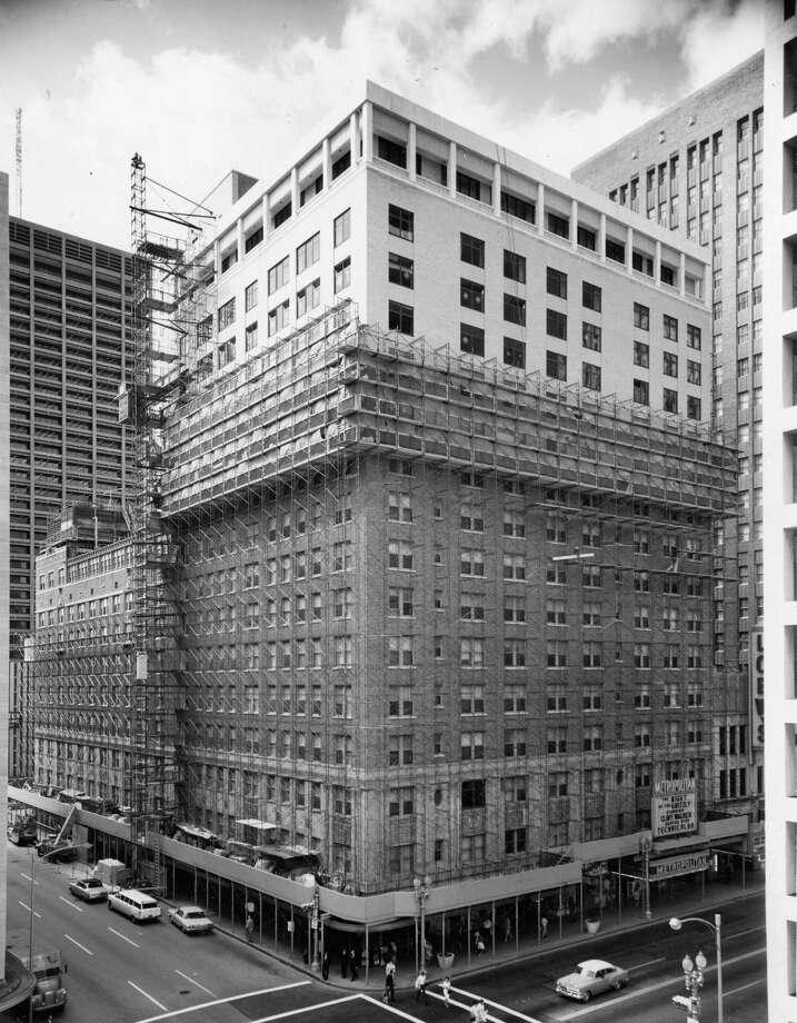 """From the May 29, 1966, Chronicle: """"New Lamar Hotel emerging from scaffolding: Being re-done inside and out in $2 million project."""" Photo: Woodallen Photographers, Courtesy Photo"""