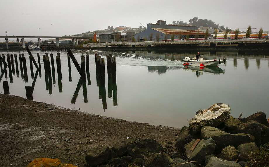 Islais Creek Channel, near Third and Cesar Chavez streets in San Francisco, is being studied for solutions to sea-level rise. Photo: Michael Macor, The Chronicle