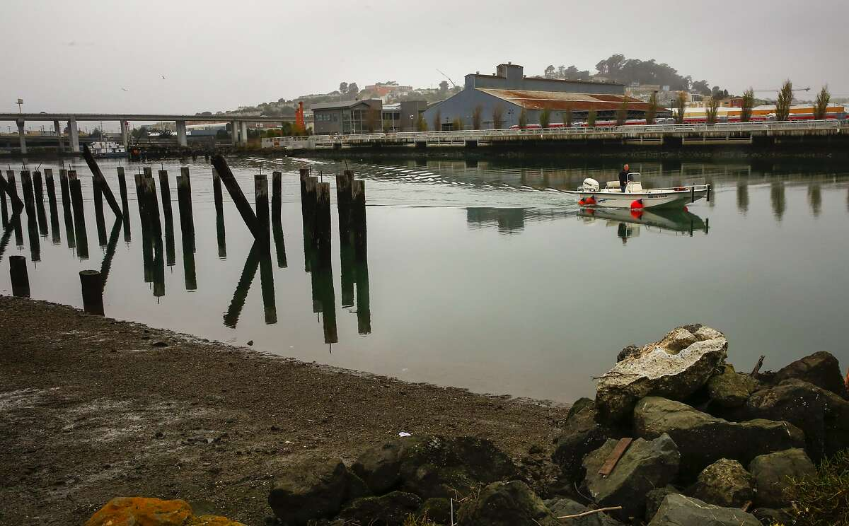 The Islais Creek Channel a waterway that runs near 3rd and Cesar Chavez in San Francisco, Calif., as seen on Wed. January 10, 2018.