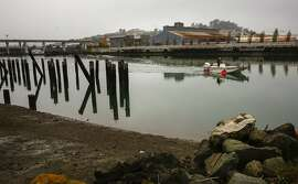 The Islais Creek Channel a waterway that runs near 3rd and Cesar Chavez in San Francisco, as seen on Wed. January 10, 2018.