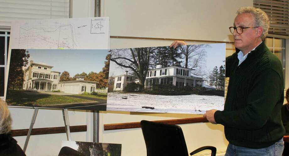 Joe Cugno, architect for the proposed house at 20 Morningside Drive in Westport, spoke before the Historic District Commission Tuesday. Photo: Sophie Vaughan /Hearst Connecticut Media /
