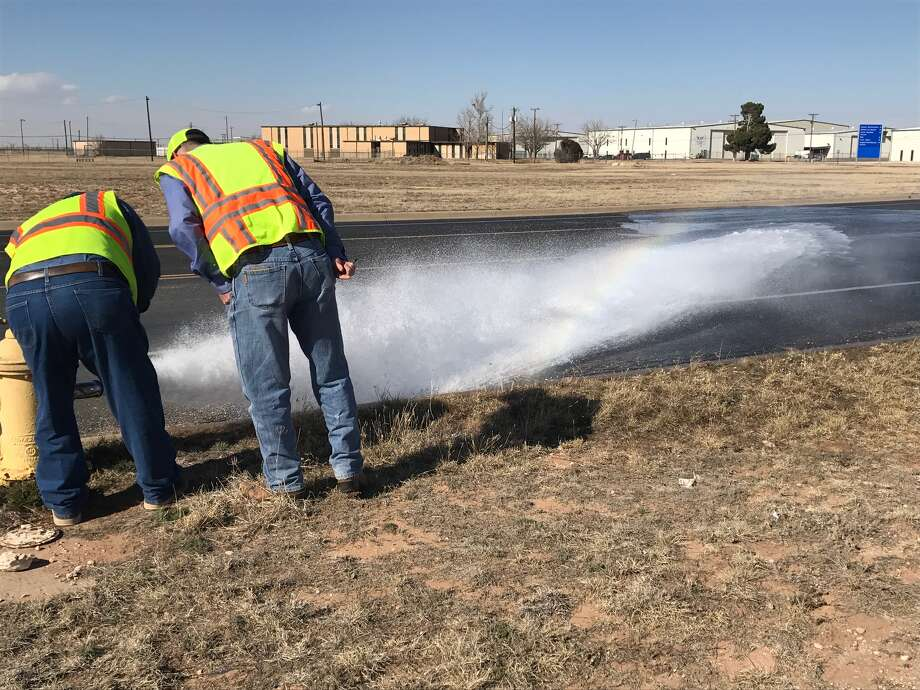The fire hydrants that were tested included the one just south of Windecker Street and Sloan Field Boulevard. Photo: City Of Midland