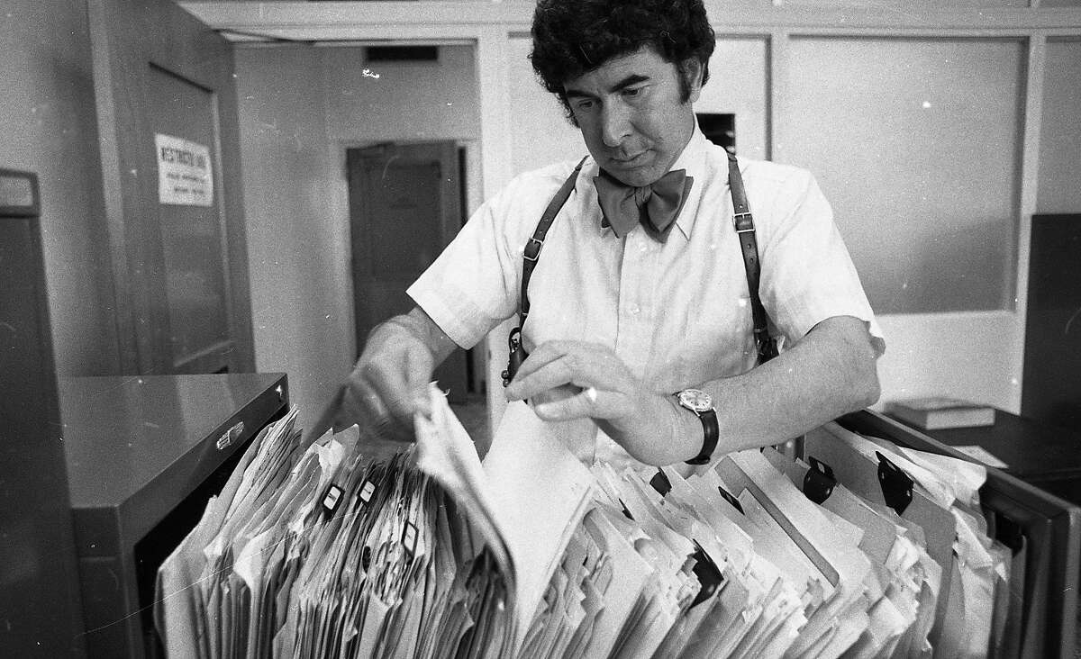 Inspector David Toschi of the San Francisco Police Department worked on the Zodiac case, August 25, 1976