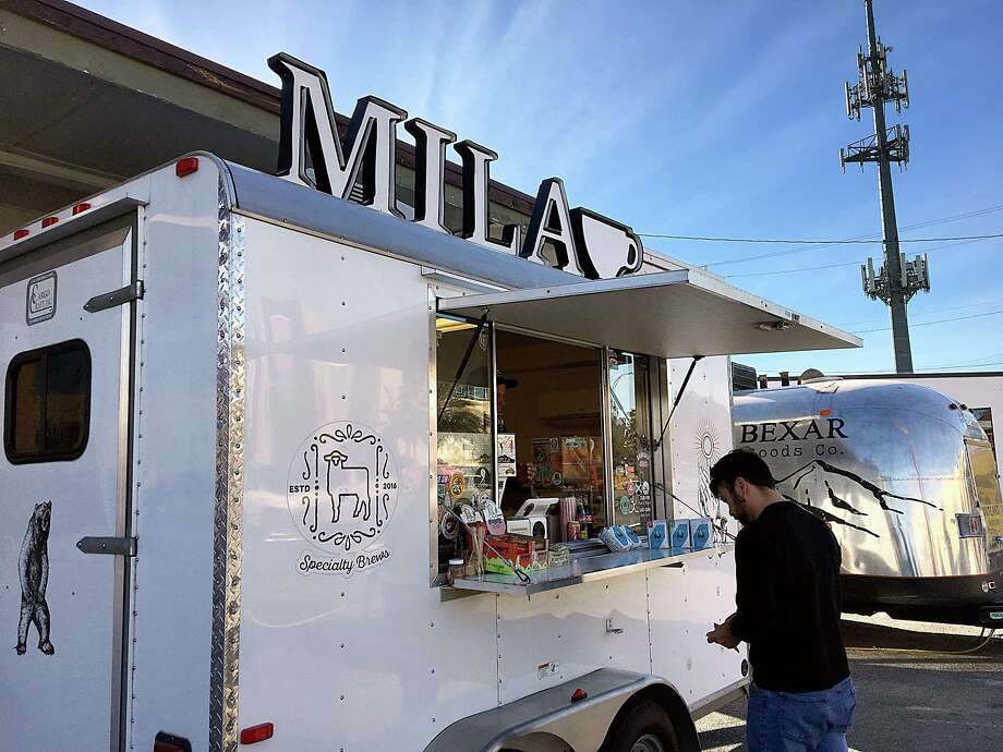 """Mila  Owners describe it as """"Awesome Handcrafted Coffee - 'just the way it should.'""""  2202 Broadway  Like Mila's Facebookpage or follow theirInstagramfor hours, location schedule and menu. Photo: Mike Sutter, San Antonio Express-News"""