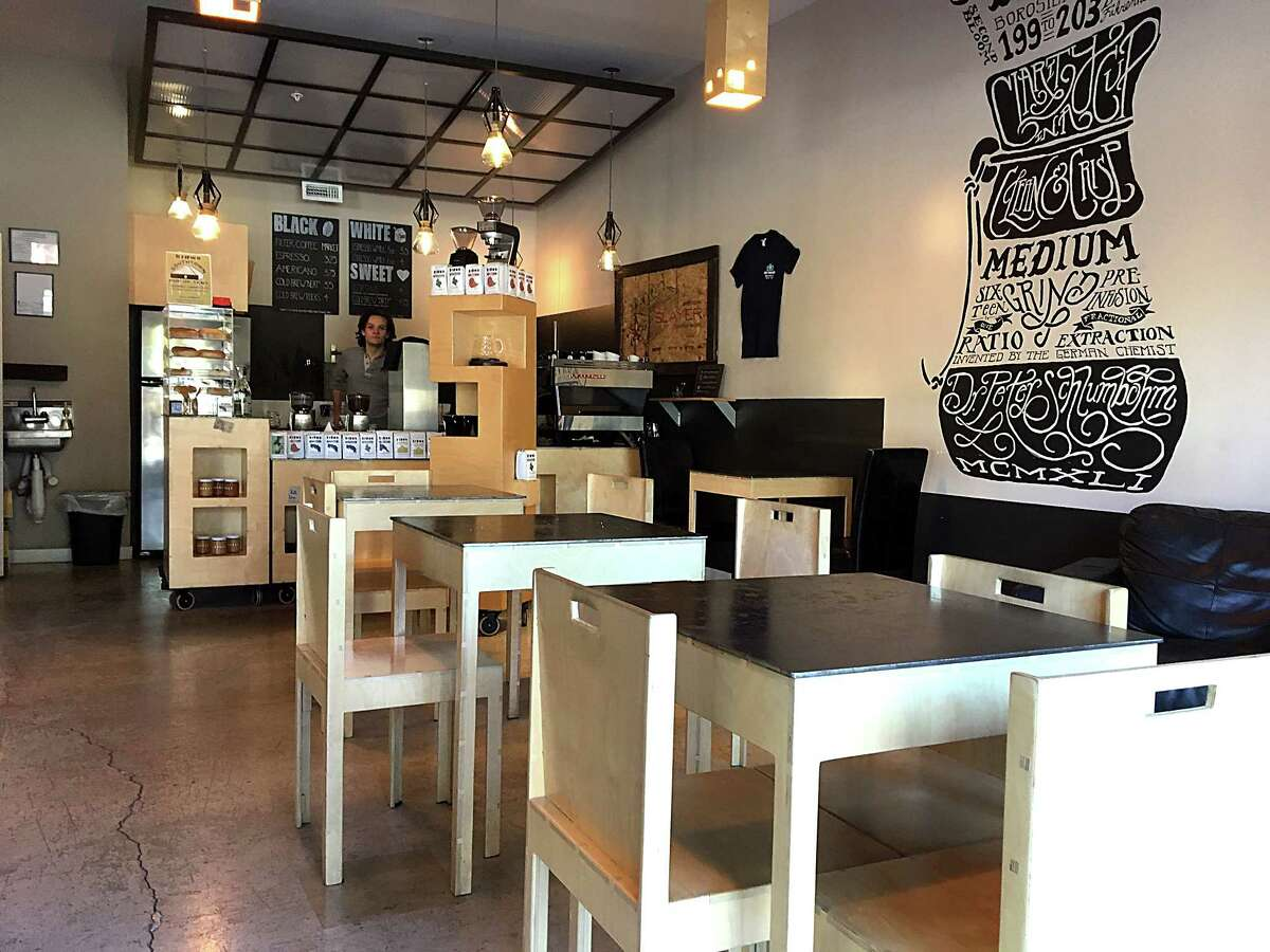 Brown Coffee Co. As much a roasting lab as a coffee shop, Brown's decor is a menagerie of blond and brown squares like molecules in a nuclear model. Getting coffee here is like ordering at a cocktail bar. The barista reads your inquisitive look and asks,