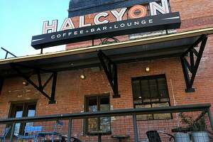 Halcyon Southtown on South Alamo Street at Blue Star in San Antonio. For Mike Sutter's 25 Coffee Shops series.