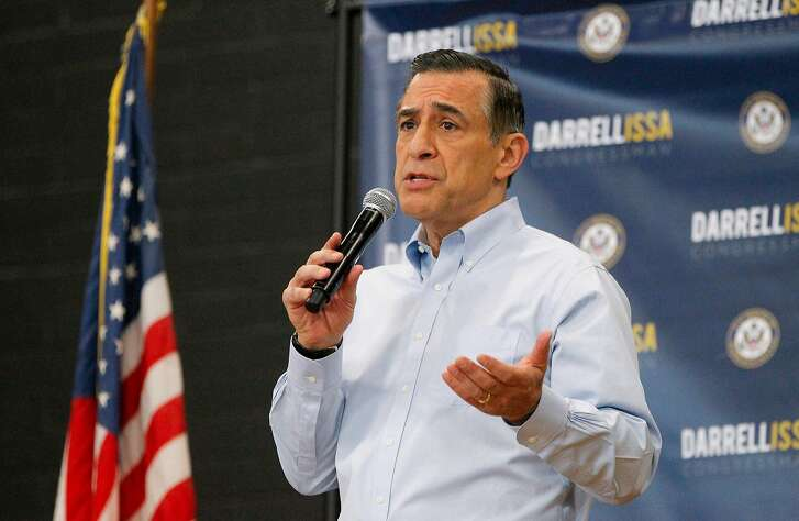 U.S. Rep. Darrell Issa (R-Calif.) speaks to constituents during a town hall meeting on March 11, 2017, at the Junior Seau Beach Community Center in Oceanside, Calif. (Hayne Palmour IV/San Diego Union-Tribune/TNS)