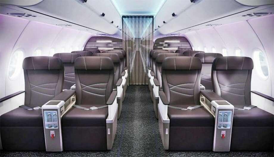 First class cabin on Hawaiian's A321neo . (Image: Hawaiian)