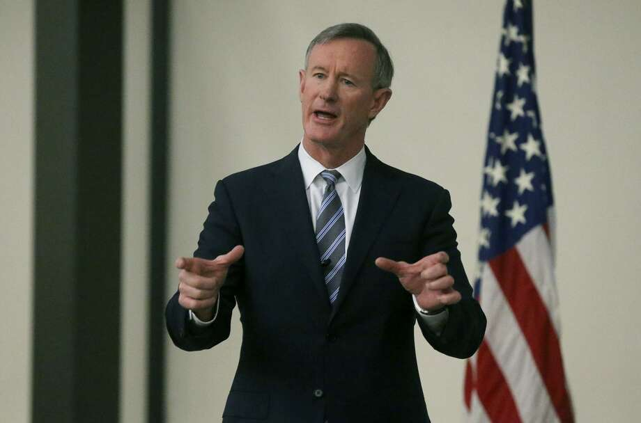 The process for replacing University of Texas System Chancellor William McRaven, shown here speaking Jan. 10 at Joint Base San Antonio-Lackland, should be transparent. Photo: John Davenport /San Antonio Express-News / ©John Davenport/San Antonio Express-News
