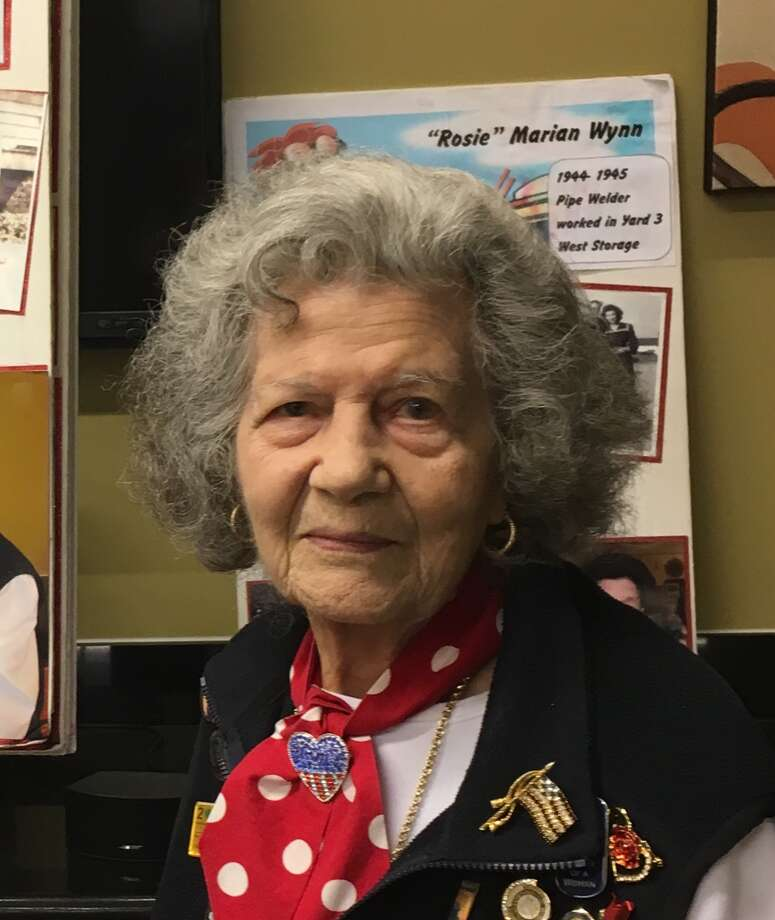 Priscilla Elder worked in the Kaiser shipyard, later returning to the newly-formed park as a volunteer. Here she is in an undated photo, wearing a polka dot scarf associated with the Rosie the Riveter movement. Photo: Courtesy National Park Service