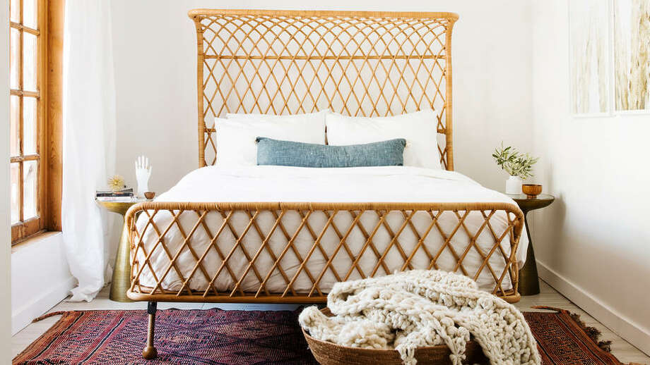Vacay VibesRattan, a mainstay material at exotic resorts, is making appearances in home furnishings. A stunning rattan headboard or chair can do wonders to a room by channeling the feel of a far-flung retreat. Photo: Thomas J. Story / Sunset Magazine