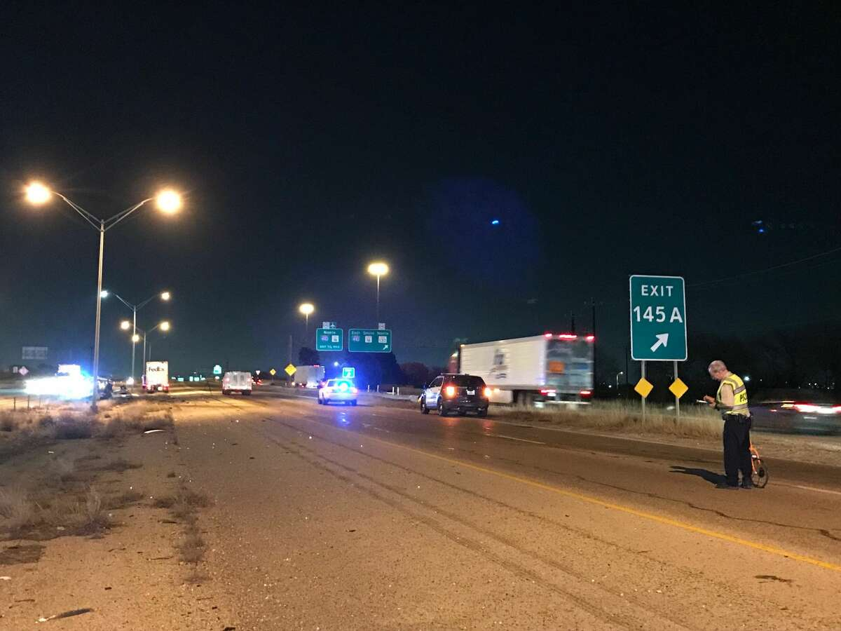 Two men died in a fiery crash on the shoulder of Interstate 35 South after their car was rear-ended by an 18-wheeler Wednesday Jan. 10, 2018.