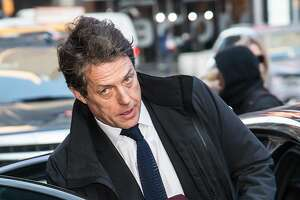 NEW YORK, NY - JANUARY 09:  Actor Hugh Grant is seen leaving ABCs Good Morning America Studio on January 9, 2018 in New York City.  (Photo by Gilbert Carrasquillo/GC Images)