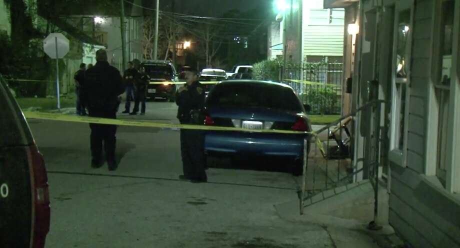 Police found a man dead from a gunshot wound lying in the middle of the street in the Third Ward. Photo: Metro Video