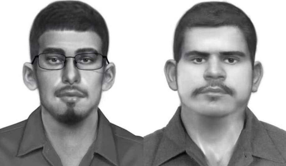 Harris County constables are searching for two men allegedly connected to a string of tire and rim thefts around Harris County. Photo: Harris County Constables Precinct 2