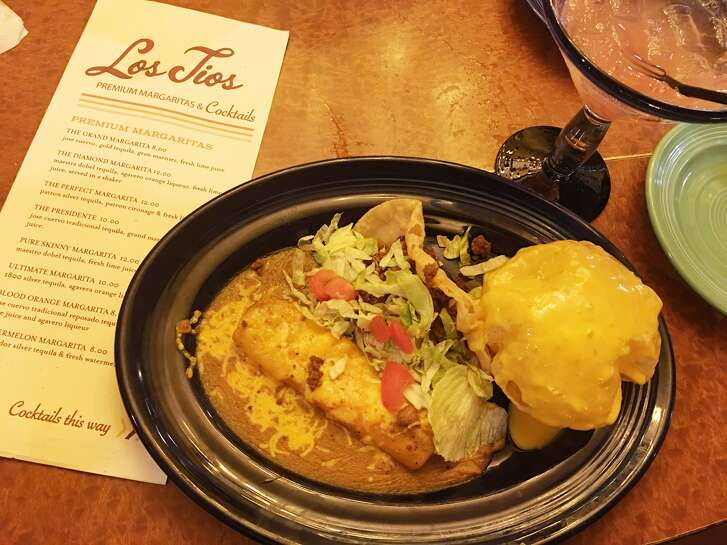 """Fans of the Meyerland Los Tios are looking forward to dishes  like the Lost Tios """"No. 6"""" dinner with a puffy cheese taco, a beef taco and a cheese enchilada."""