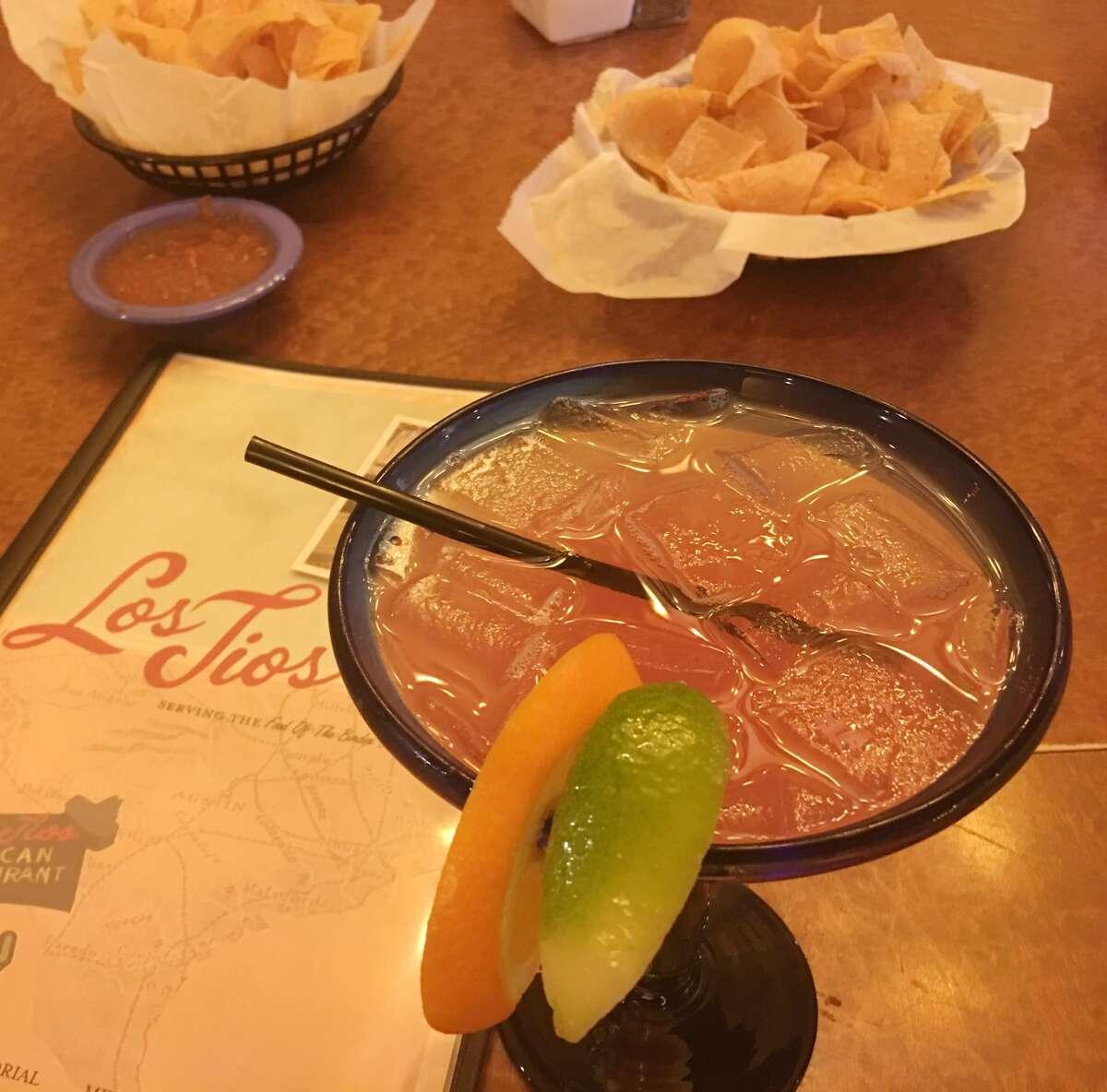 The blood-orange margarita at Los Tios. (Melissa Aguilar photo)
