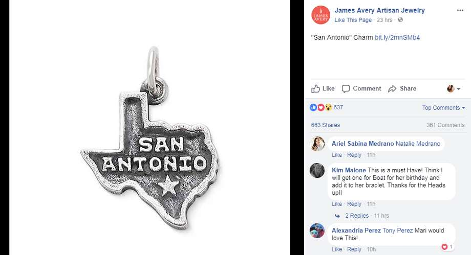James Avery Artisan Jewelry, popular for their sterling silver charm bracelets, released a San Antonio-themed bauble in their latest collection.