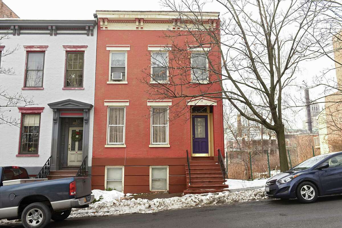 Albany Mayor Kathy Sheehan and her husband, Bob, have purchased this home in Arbor Hill, located at 18 First St. in the Ten Broeck neighborhood on Thursday, Jan. 11, 2018 in Albany, N.Y. (Lori Van Buren/Times Union)