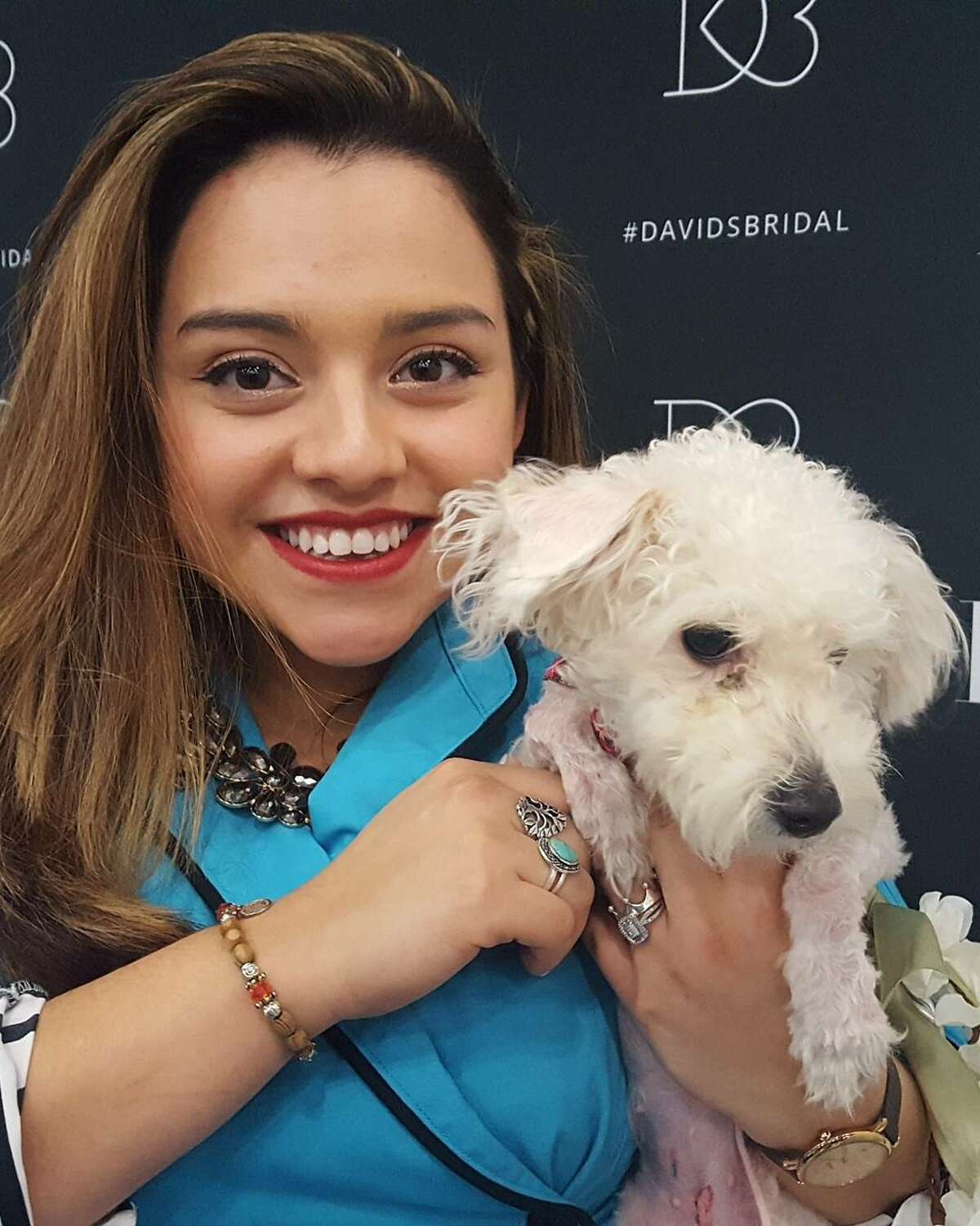 Houston SPCA partnered with David's Bridal to showcase adoptable pets on the Bridal Extravaganza Show's runway.