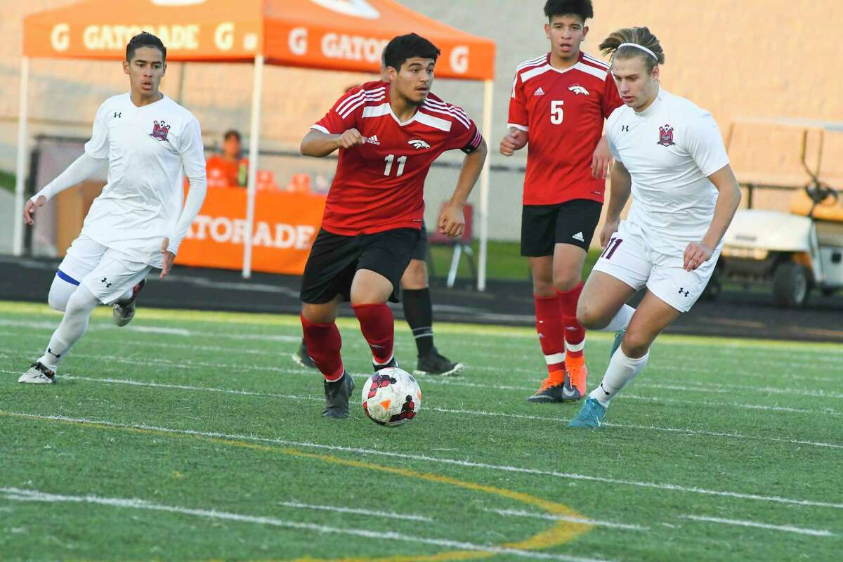 Center attacking midfielder Brandon Amaya at 5-11, is a physical player for the Mustangs.