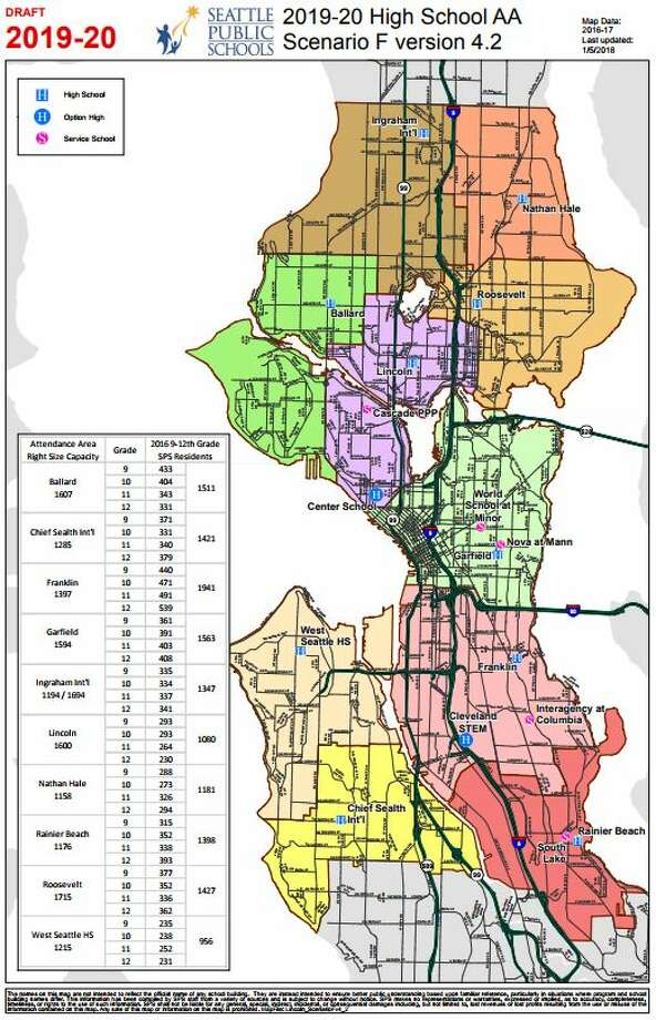 Seattle Public Schools has narrowed down new boundary scenarios for the  district following the opening of