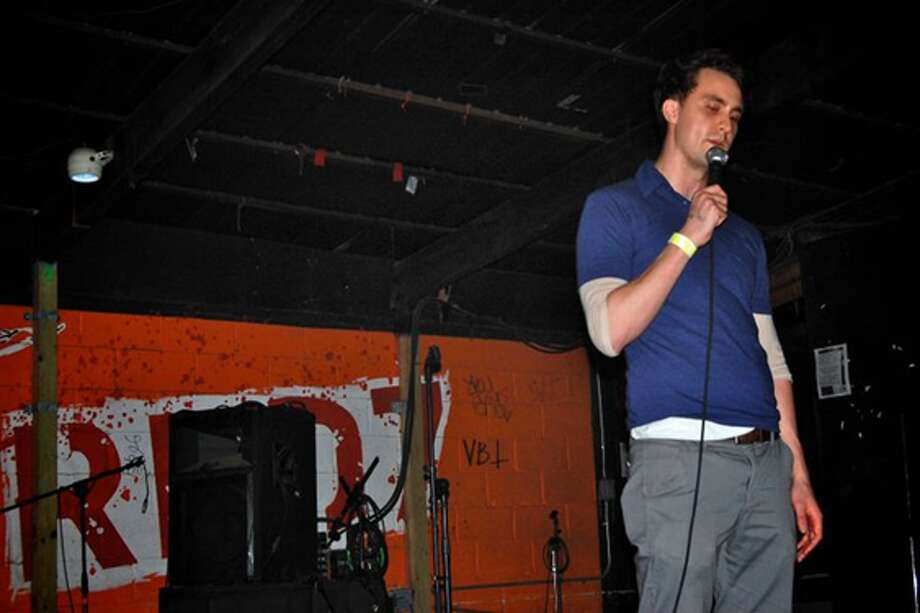 Ingebretson onstage at Austin's dearly departed Red 7 rock and comedy venue in 2011. Photo: Courtesy: Matt Ingebretson