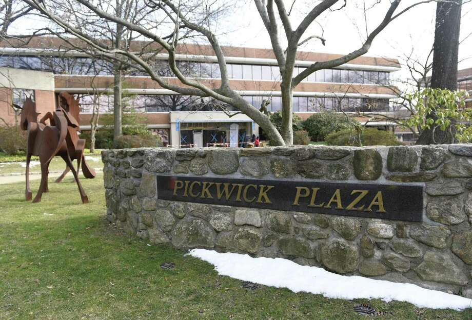 Pickwick Plaza in Greenwich, where online trading firm Interactive Brokers Group signed an extension and expansion of its lease. Photo: Hearst Connecticut Media File Photo / Greenwich Time