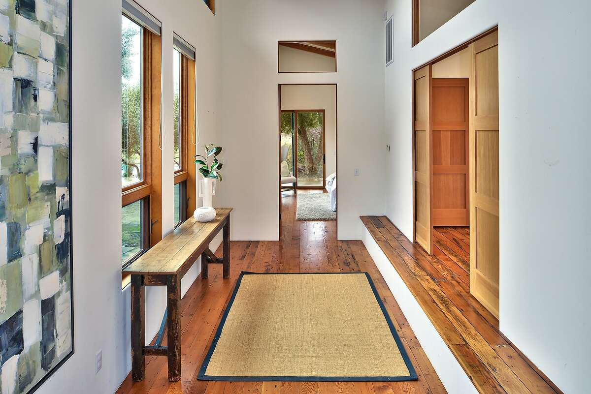 Hardwood flooring graces the Wine Country home.