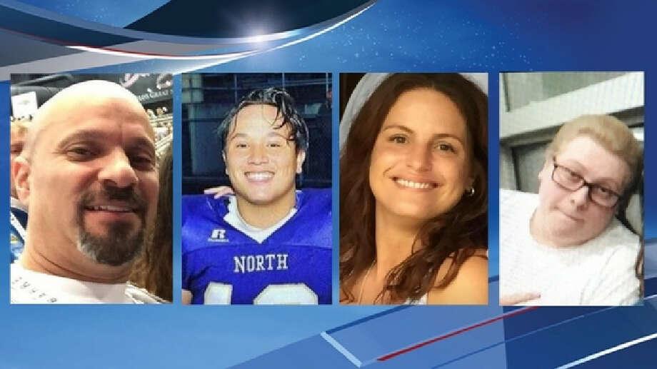 Victims of the Kitsap homicides are shown: John Careaga, Christale Lynn Careaga, Hunter Schaap and Johnathon Higgins. Photo: KOMO News