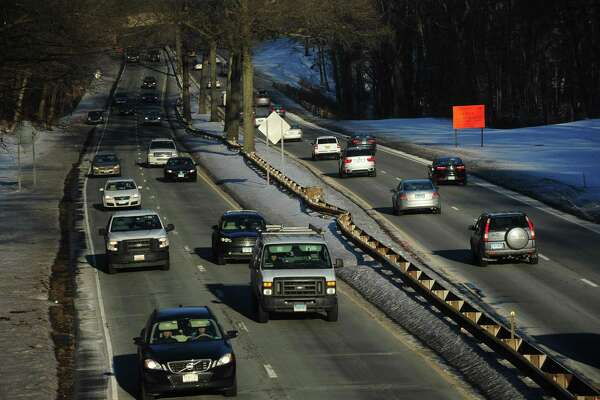 A stretch of the Merritt Parkway at the West Rocks Road overpass Wednesday, January 10, 2018, that will forego upgrades for the time being in Norwalk, Conn. Governor Dannel P. Malloy and Connecticut Department of Transportation (CTDOT) Commissioner James P. Redeker today released a full list of projects totaling $4.3 billion that are postponed indefinitely until new revenue is appropriated for the Special Transportation Fund (STF). The Governor made clear that his administration will announce detailed proposals this month that, if adopted by the General Assembly, would bring the projects back online.